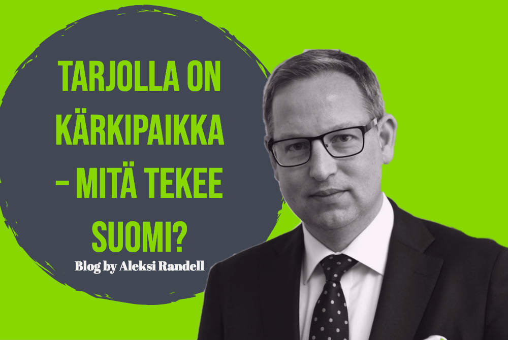 Tarjolla on kärkipaikka – mitä tekee Suomi?