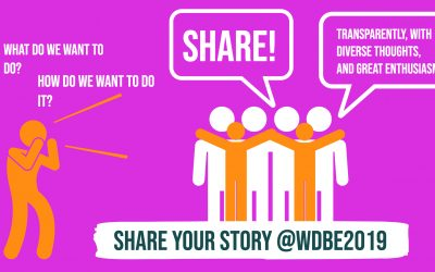 Let's share! – jaa tarinasi WDBE:ssä