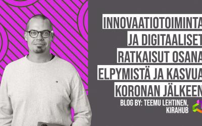 Innovaatiotoiminta ja digitaaliset ratkaisut osana elpymistä ja kasvua koronan jälkeen